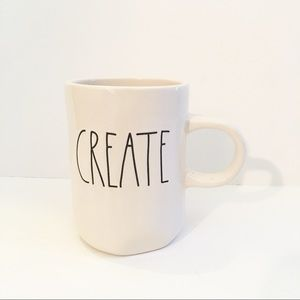 "Rae Dunn ""Create"" White Coffee Mug"